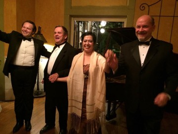 Imperial Hotel in Amador City - Chris Bengochea, Ron Brickman, Sandra Bengochea, Joseph Wiggett (left to right)